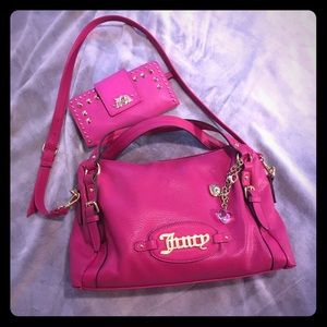 Juicy Couture Purse And Wallet Set